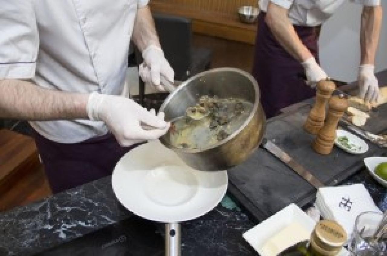 Zdjęcie główne #160 - Pikantne tagiatelle ze ślimakami i grillowanym bakłażanem